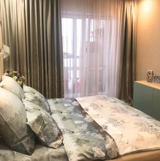 Декорирование коричневой спальни