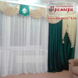 Бархатные шторы с вышивкой
