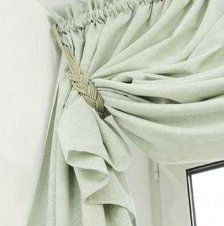 Портьера с плетеным подхватом