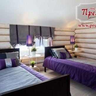 Текстильное оформление спальни на 2 персоны