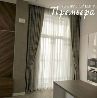 Плотные шторы для квартиры студии