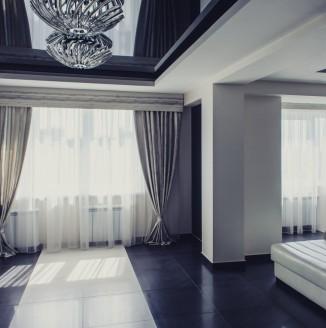 Шторы для квартиры студии в стиле модерн