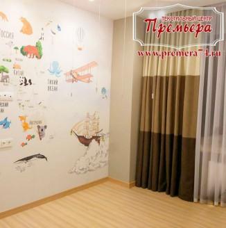 Прямые шторы для детской комнаты
