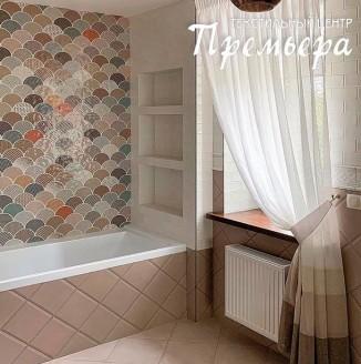 Штора для окна в ванной комнате