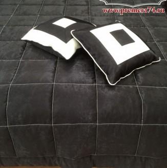 Графические подушки и покрывало