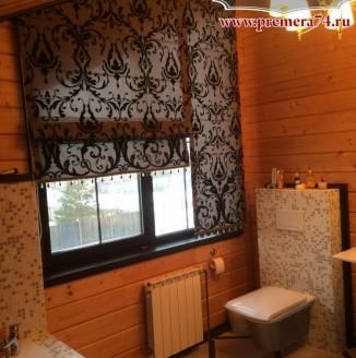 Римские шторы со стразами Swarovski для ванной комнаты