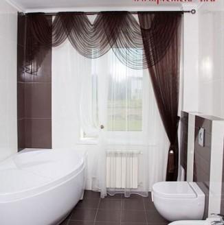 Классические шторы для ванной комнаты