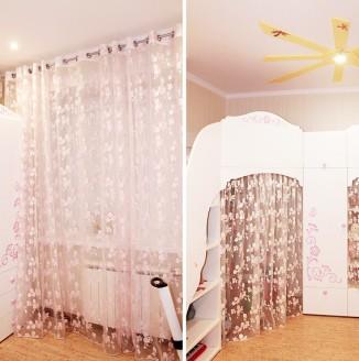 Навесные шторы в детской комнате
