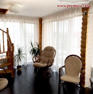 Прямые шторы для гостиной комнаты