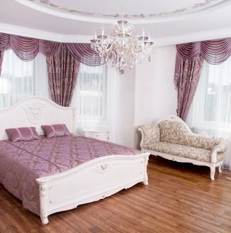 Дизайн фиолетовой спальни