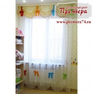 Австрийские шторы для детской комнаты