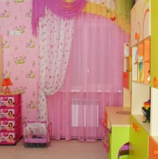 Шторы в розовую детскую