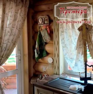 Ажурные шторы на кухню