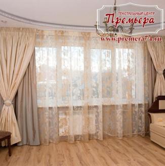 Текстильное оформление квартиры-студии