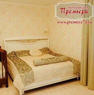 Текстильное оформление спальни молодоженов