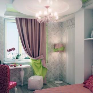Розовая комната для девочки подростка