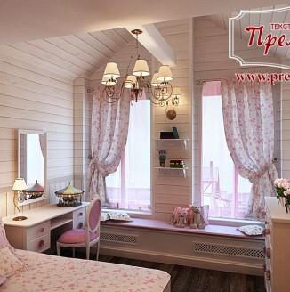 Шторы прованс для спальни