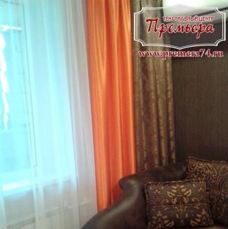 Цветные шторы в гостиную
