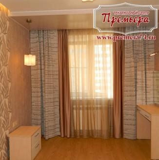 Расписные шторы в спальню