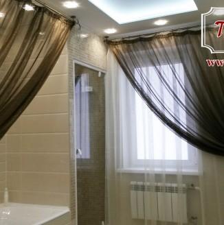 Черные шторы для ванной комнаты