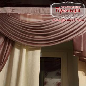 Монохромные шторы в зал