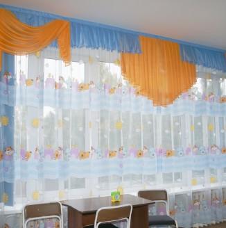 Оформление комнаты для малышей в детском доме №14