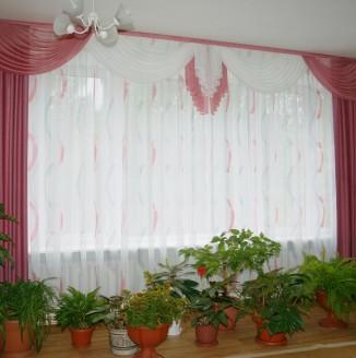 Оформление шторами учебной комнаты детского дома №14