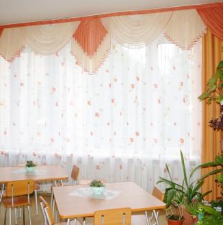 Шторы для столовой в детском доме №14