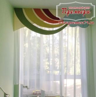 Легкая штора для помещения детского сада