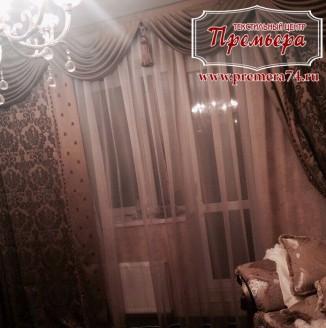 Шторы в гостиную в стиле барокко