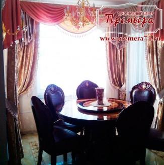 Текстиль для бархатной столовой