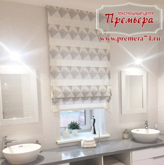 Римская штора для ванной