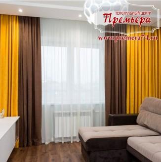 Прямые шторы для гостиной