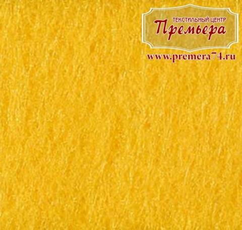 Фетр листовой 1мм, 640 желтый, 100%п/э