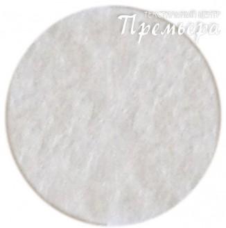 Фетр листовой 1мм, 650 молочный, 100%п/э