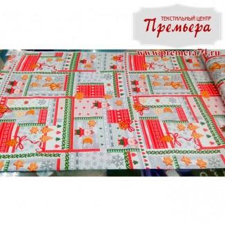 Скатерочная ткань Рогожка Печеньки