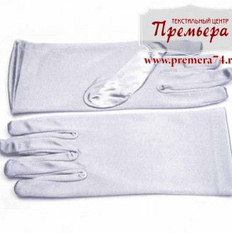 Перчатки атласные короткие