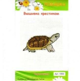 Набор для вышивания крестом (7*4см, Черепаха, 1002)