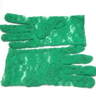 Перчатки гипюр короткие