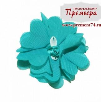 Цветок пришивной Фиалка L118 (70 морск. волна)