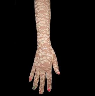 Перчатки гипюр длинные