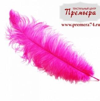 Перья декоративные (страус, 55см, фуксия)